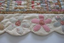Scallop edge on quilt