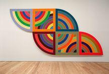 Frank Stella & Math Bass / art examples of artists Frank Stella & Math Bass and project/lesson ideas