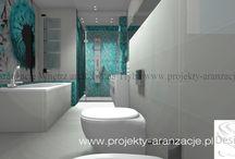 łazienka / projekt łazienki styl glamour