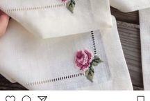 Bordados de rosas