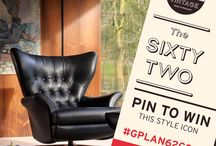 The G Plan Vintage Sixty Two Chair Competition Example / A fun and stylish mix of Iconic mid century design and modern gadgetry, combined with a handful of my favourite current print, textile and homeware design. #GPlan62comp
