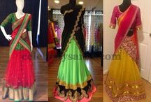 half sarees and sareees