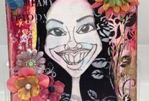 Original Artwork for Sale or Special Order / Prima Marketing based projects by Djana Venolia.