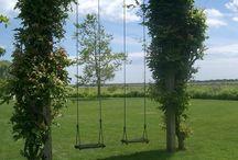 Garden , Swinging in the garden