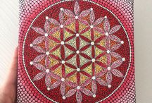 dot painting flower of life
