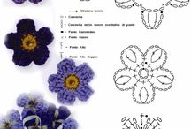 CROCHET. Flower and paisley
