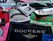 Custom Woven Clothing Labels by Xpresa Labels / clothing labels, woven labels, garment tags, apparel, t shirt, hang tags.