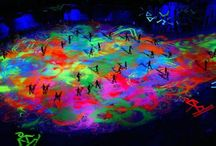 2002 Winter Olympics / Wildfire UV Black light effect