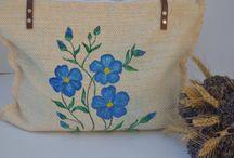 Handwoven handpainted bags