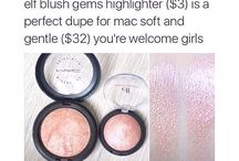 Drugstore Makeup / Affordable Makeup Brands and makeup products from drugstore highlighters, drugstore lipsticks, and general drugstore  makeup dupes