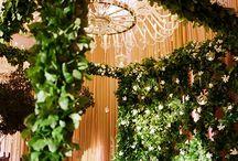 Tropical theme wedding