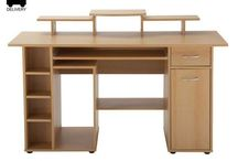 Modern Wooden Desk Unit Storage Furniture Home Work Study PC Computer Table Xmas