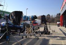 Produktion TV Spot / Hier entsteht gerade unser neuer TV Spot in unserem Service Center in Dresden.