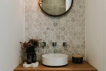 Tiny powder rooms
