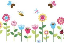 Flower Wall Decals: Flower Stickers for Girls Room Windows / Flowers on walls or windows would give natural beauty to house, to make it possible there is a way to paste wall decals of flowers, it will be fresh forever. And if we arrange those decals on walls from corner or top as if falling flowers it would give very natural look.