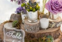 Woodland fairytale Ideas / Ideas and inspiration for a woodland, rustic styled wedding. Table centrepieces, chair flowers, bouquets and decorations