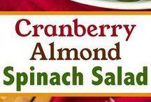 Cran almond spinach salad