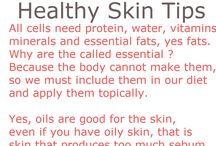 Healthy Skin Tips / Skincare tips to keep your skin in healthy tip top shape, looking good naturally.