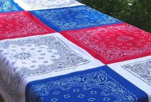 Red White and Blue / Celebrating America all year long - love Red, White and Blue in all kinds of home decor, especially quilts!