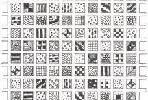 zentangle/geometric patterns