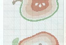 cross stitch - ovoce zelenina