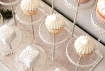 Cupcake Displays / Inspiration board for cupcake towers. Petit fours and cake balls.