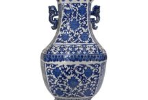 Chinese Vases / Various sizes and designs, all hand painted with detail.