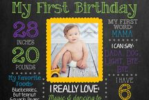 First Birthday Chalk Board