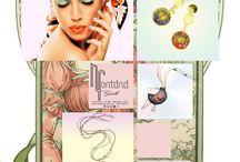 Gabriella Rivalta / Gioielli di oro miniato e smalti colorati, disegnati e dipinti a mano