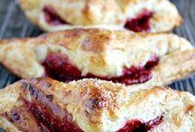 Raspberries turnovers