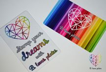 Rainbow scrapers ❤ / Rainbowly scrapers the size of a credit card! ❤ Perfect for stamping ❤ Tough and flexible scrapers ❤