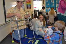 100th Day of School / Students dress up as old people to celebrate the 100th day of school.
