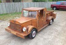 Truck Bed Project Inspiration / Creating a truck bed for the little guy.  Thinking vintage wood truck….