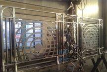 Realizzazioni - Carpenteria in ferro / Realizzazioni di carpenteria in ferro delle Officine Battistotti di Caselle Landi (LO).