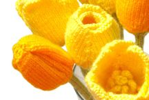 Knitted and crocheted flowers, leafs, berries, vegetables and mushrooms / by By Ann