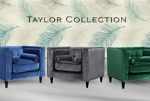 Taylor Arm Chairs / The Taylor Arm Chairs are a perfect piece for any room! It has a tight back design and button tufts on the back. . Also available as a Living Room Set - Sofa, Love Seat and Arm Chair.  Pillows included!