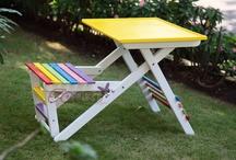 kursi lipat / kursi lipat dari kayu