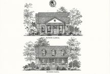 David Weekly Cottage Homes  / Model homes and floor plans for a new community development in Celebration FL.