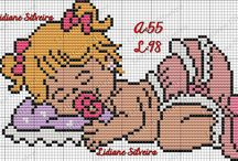Cross stitch - welcome baby girl