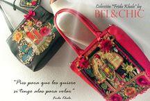 Coleccion de Bolsos Frida Khalo by Bel&Chic / Coleccion de Bolsos de Cuero y tela de diferentes formas y modelos . Realizados como piezas exclusivas cada diseño es una composición diferente y única que los convierte en cuadros bolso. Han sido trabajados handmade y combinan diferentes piezas de varios paises.