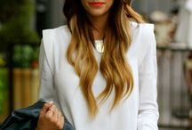 hair colour / Balayage and rich reflective hair colour