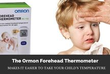 The Omron Forehead Thermometer Makes it Easier to Take Your Child's Temperature / Take your child's body temperature in as little as 1 second without contact. Read our blog to learn all about the Omron Forehead Thermometer.
