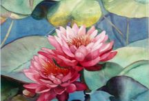 peonies and water lillies
