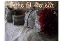 Peche et dentelle, créations textiles et bijoux / Décoration pour la maison,créations textiles et bijoux originaux