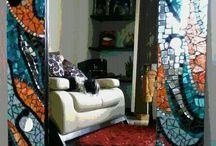 Espejos en mosaico / Espejos decorados con vitromosaico