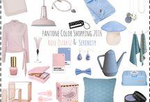 Rose Quartz en Serenity / Rose Quartz & Serenity Pantone Color of the Year 2016, een warme liefdevolle tint roze en het koelere rustige blauw.