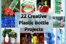plastic bottles recylced   / by Brenda Harris