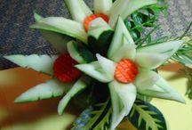 okurky / Carving a netradiční servírování