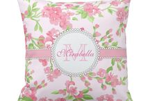 Gift Pillow ideas for Her / Gift Pillow ideas for Her. Pretty, Personalized, custom girly style pillows.