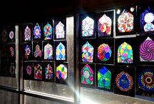 Islamic staind glass window